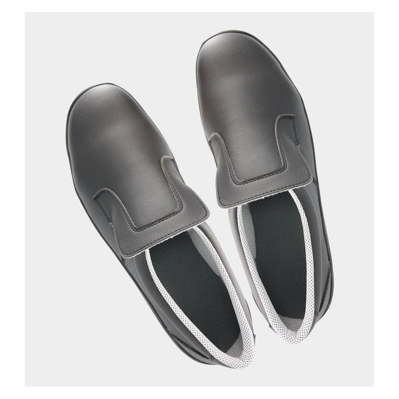 """Chaussures de Sécurité """"Spécial Agroalimentaire et Restauration"""" TED Noir - Vue haut - Nordways"""