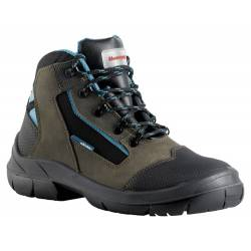 """Chaussures de sécurité hautes en cuir marron Bacou """"CERATA"""" normé S3 HI CI SRC, vue de face 3/4"""