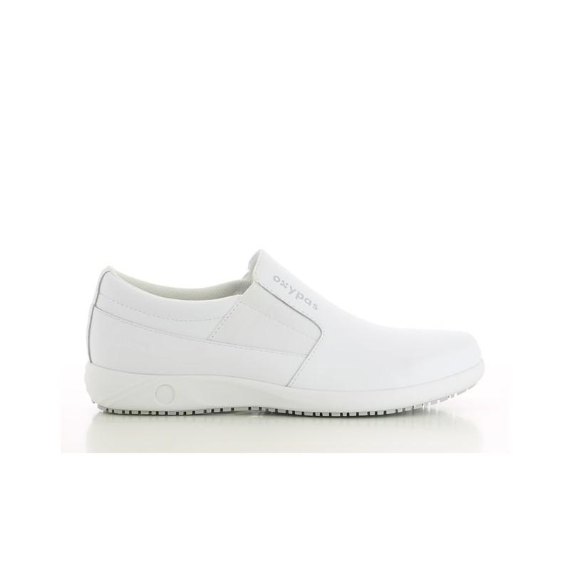 Chaussures médicales sans lacets ROY blanc- OXYPAS