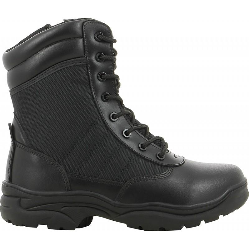 Chaussure agent Tactic montante en cuir noir - Safety Jogger