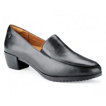 Mocassins femme en cuir noir Envy III - Shoes For Crews